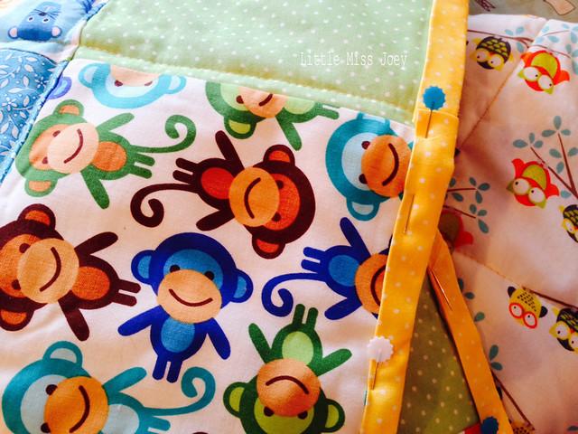 Happy baby quilt