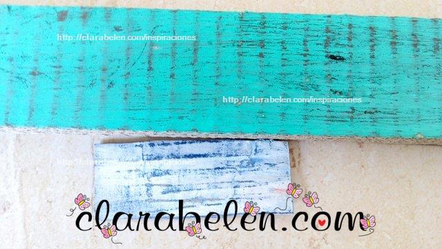 Tecnica de decapado en carton como madera vieja