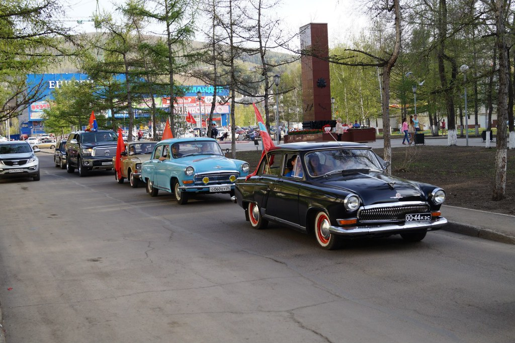 ГАЗ-21 на автопробеге в Красноярске