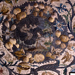 Moseley Old Hall, Wolverhampton, West Midlands, 17th-century altar frontal with scenes from the life of St. Theresa, detail