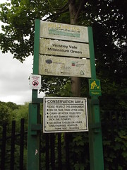Westley Vale Millennium Green - Acocks Green - Malvern Road - signs