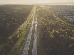 Traffic | Kaunas aerial | Autumn 2016