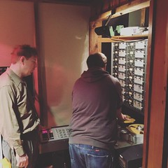 Instructor Neal teaching a student about Analog 2