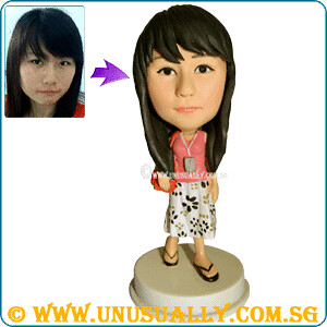 Custom 3D Female Tourist On Holiday Figurine