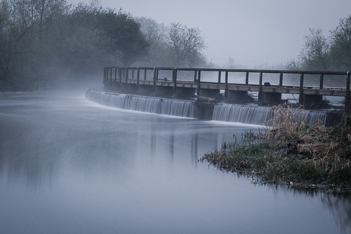 park uk morning bridge england water misty sunrise waterfall long exposure leicestershire unitedkingdom britain walk sony leicester tripod country filter nd 1750 mead alpha watermead tamron 450 f28 silky creamy weir density neutral cokin a450