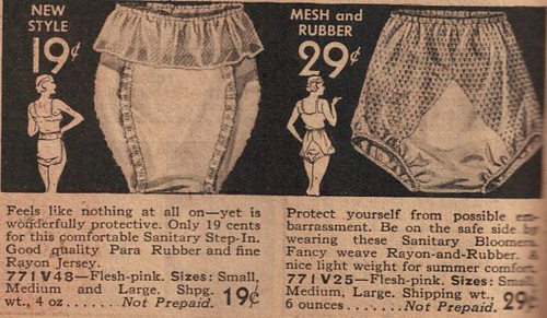 an old advertisement for mesh and rubber women's undergarments