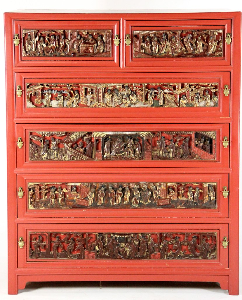 22 Unusual Carved And Lacquered Chinese Chest