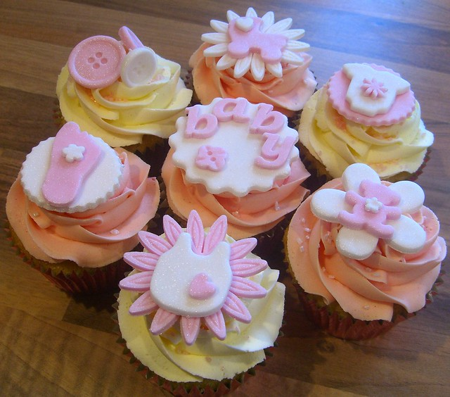 Pink Baby Shower Cupcakes : Pink Baby Shower Cupcakes Flickr - Photo Sharing!