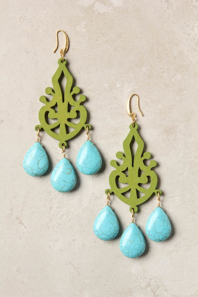 Carved filigree earrings