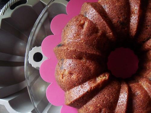 Brown Sugar Bundt with Pears, Prunes, Hazelnuts