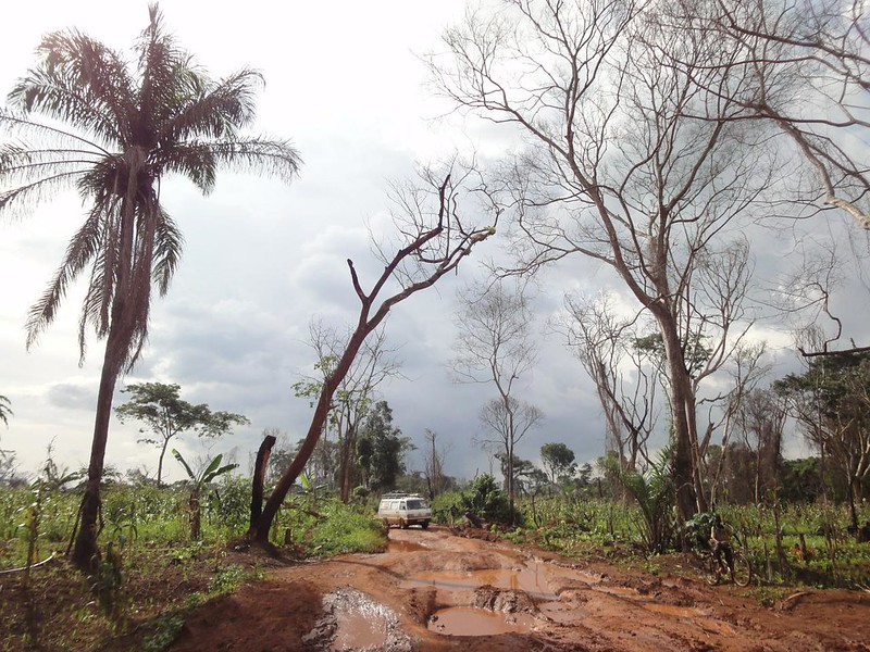 Estrada desde Faradje até Durma no Congo