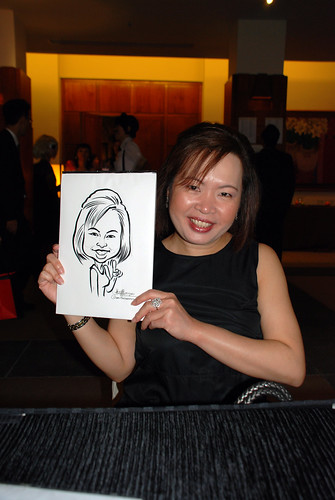caricature live sketching for Rio Tinto Dinner & Dance - 8