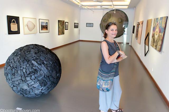 Rachel at Meta House gallery