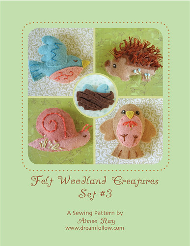 felt woodland creatures set #3 is here!