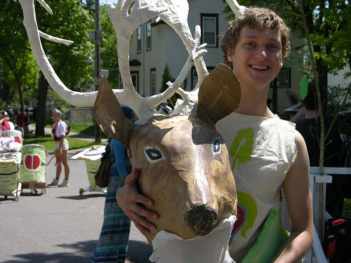 MayDay 2012, deer antlers mache