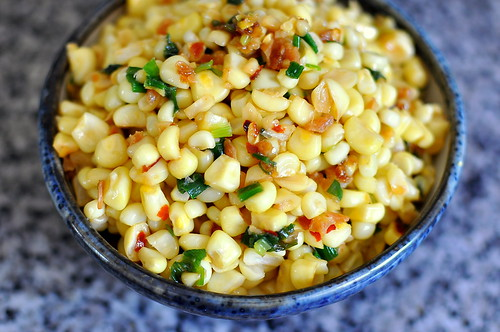 Bap Xao Tom Bo (Vietnamese Sauteed Corn with Dried Shrimp, Scallions, and Butter)