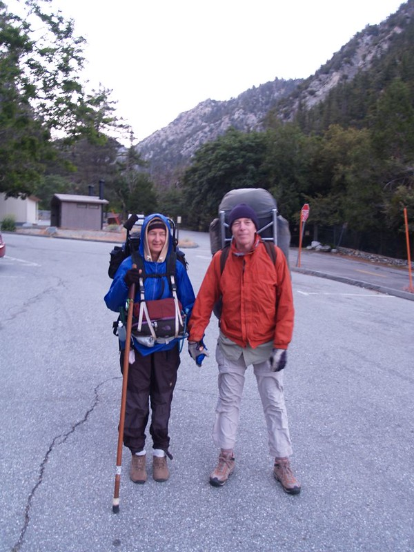 Ready to hike up Icehouse Canyon - Cold!!!