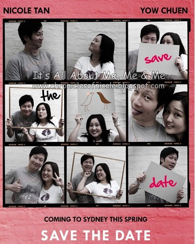 Nicole and Chuen save the date card