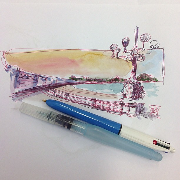 Technique  testing #bic #watercolor