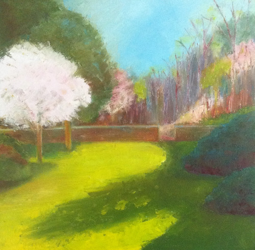 First of May at Long Hill (Oil Bar Painting as of May 25, 2013) by randubnick