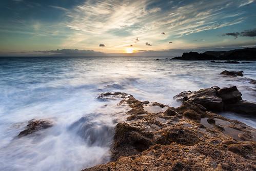 ocean sunset sea cloud seascape water rock canon spain long exposure filter lee tenerife