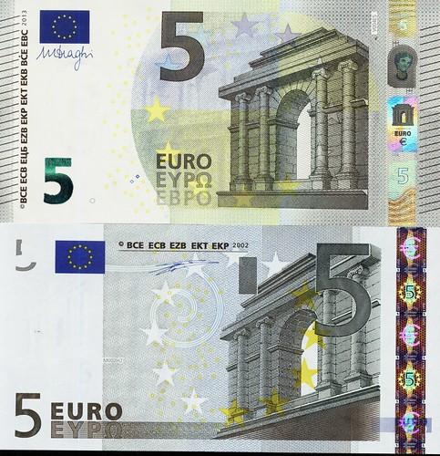 5 Euros. Anverso