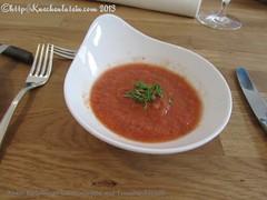 ©Kalte Holsteiner Gemüsesuppe mit Traubenkernöl