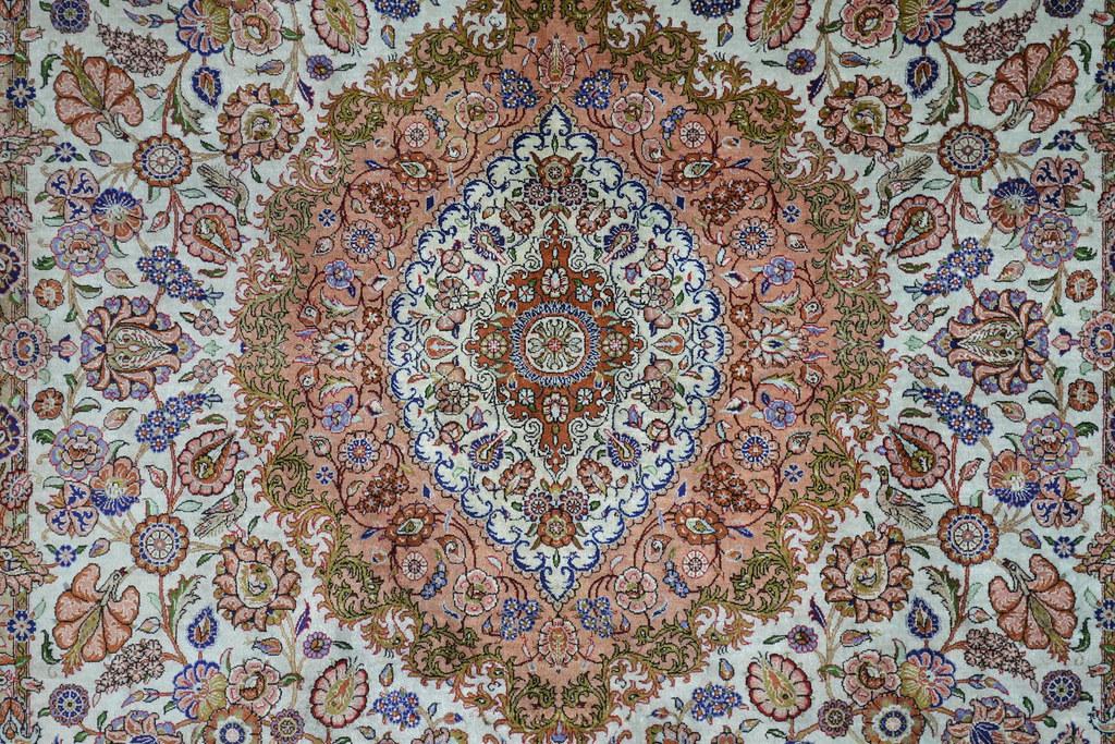 Super Fine Jamshidi Vintage Qum Persian Area Rug