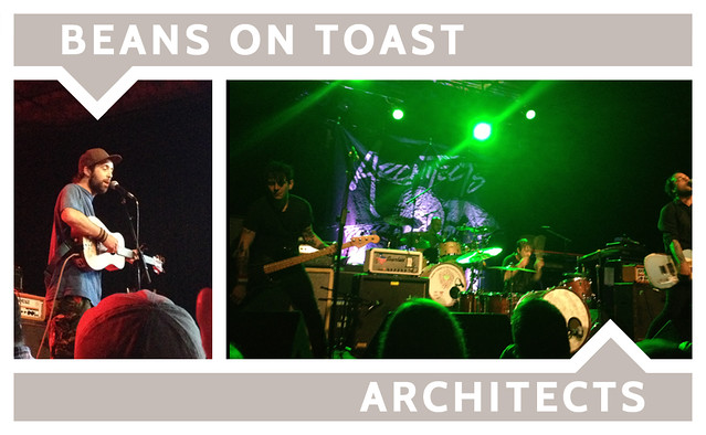 Beans on Toast & Architects. Turner Ballroom, Milwaukee, Wisconsin.