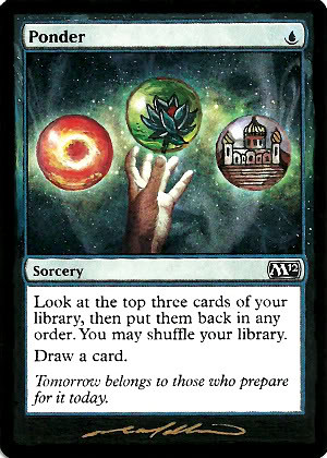 Ponder Magic the Gathering Altered Art MTG Card artwork
