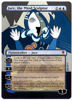 Jace the Mind Sculptor Altered Art Magic MTG Altered Card artwork Eric Klug alters klug mtg