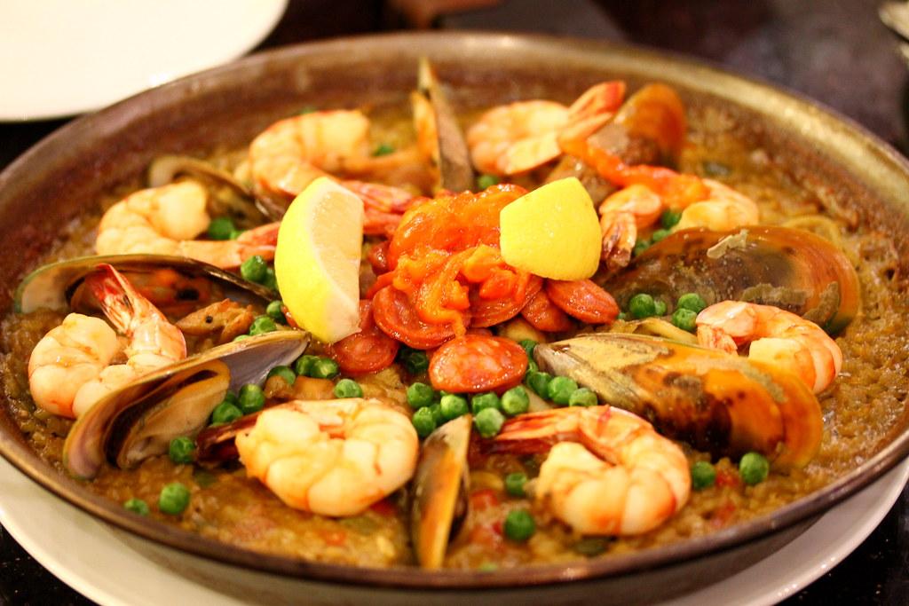 宁静西班牙酒吧和餐厅海鲜海鲜饭