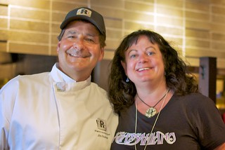 Cassandra (@GoodLifeVan) and Jim Romer (Romer's Burgers)