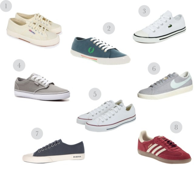 plimsolls-trainers-converse-fred-perry-superga-seavees-adidas-samba-nike-lacoste