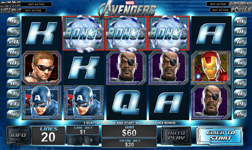 free The Avengers bonus game