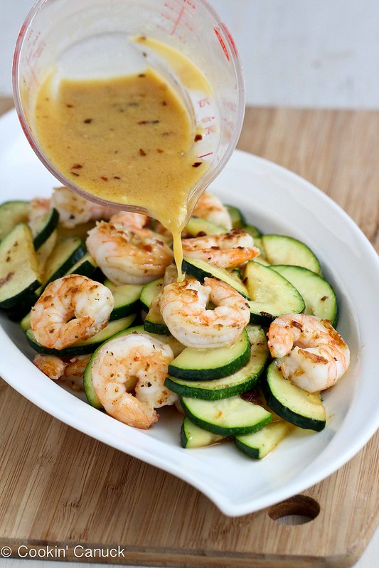 Shrimp and Zucchini Stir-Fry Recipe with Miso Lime Sauce...Healthy, with amazing flavors! 208 calories and 5 Weight Watchers SmartPoints
