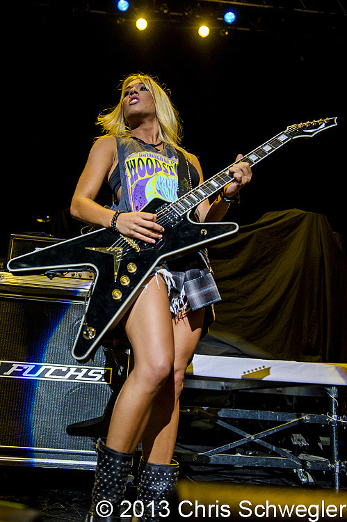 Laura Wilde performs live on August 2nd, 2013 at DTE Energy Music