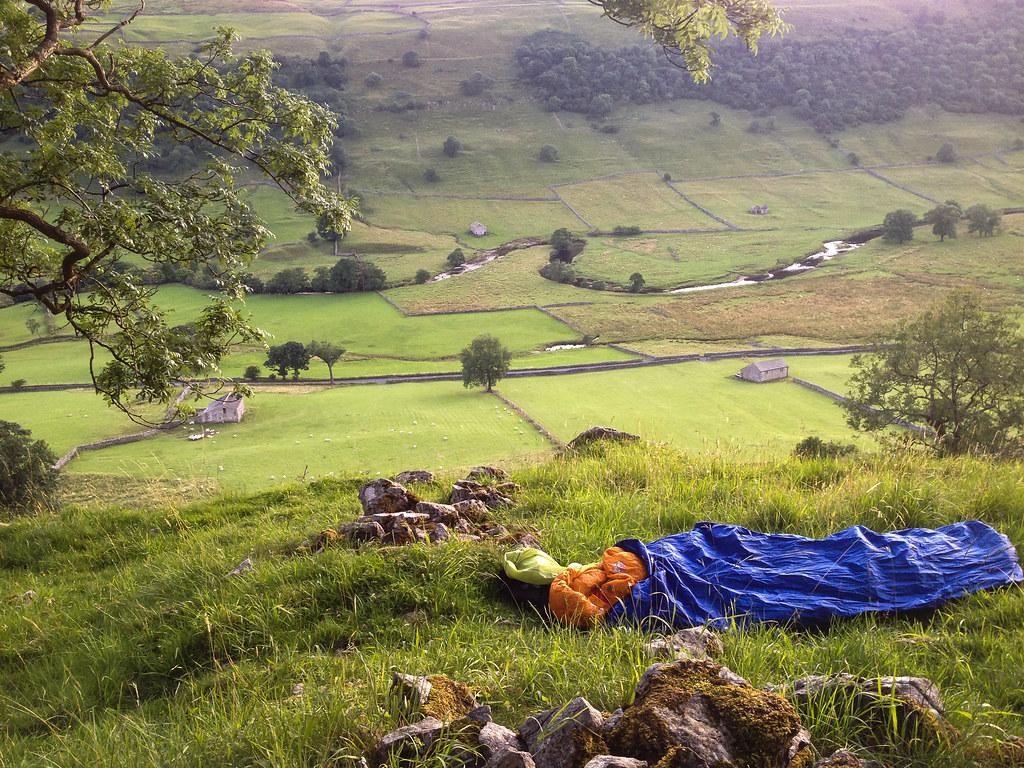 Sleeping on a hilltop near Kettlewell