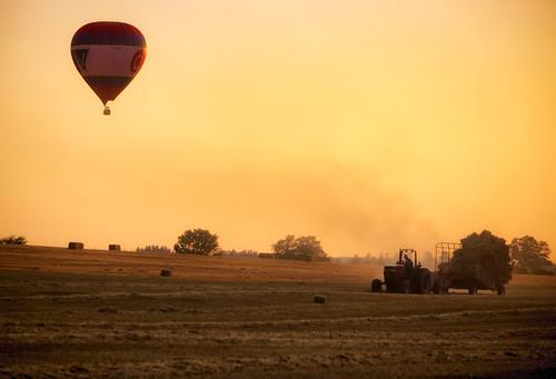 ctv canada county elora markheine mennonite ontario welington air balloon farm hot sunset tractor