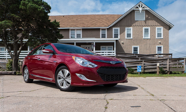 2013 Hyundai Sonata Hybrid at the Seaside Inn, Hatteras NC