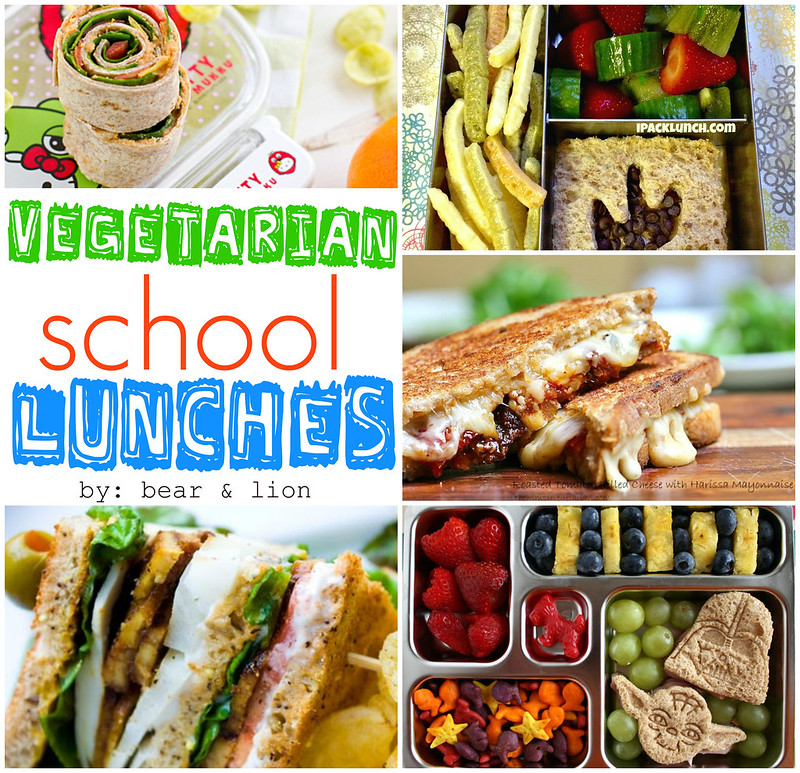 These school lunches ideas are perfect for vegetarian families or even those who want to go meatless every now and then. These lunches are packed with nutrition to keep your kids feeling satisfied all day!