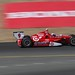 Scott Dixon begins the climb up the hill at Sonoma Raceway