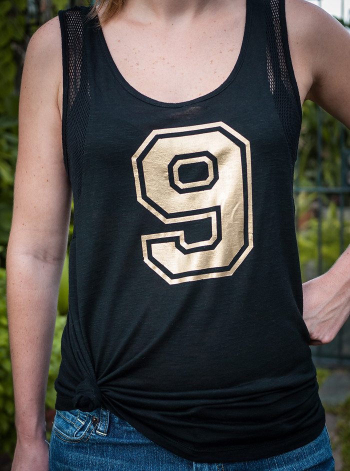 how to make a cute football jersey tank