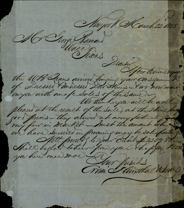 Letter to George Barnard from New York, March 22, 1855