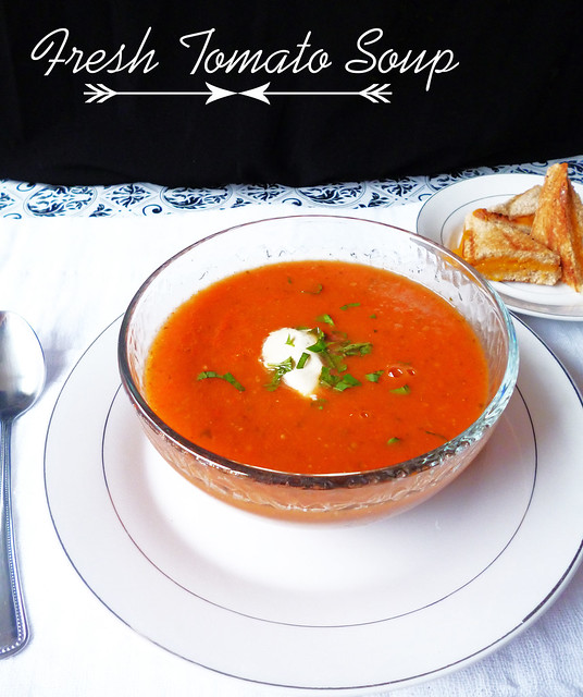 Raspberry Bloom: Fresh tomato soup
