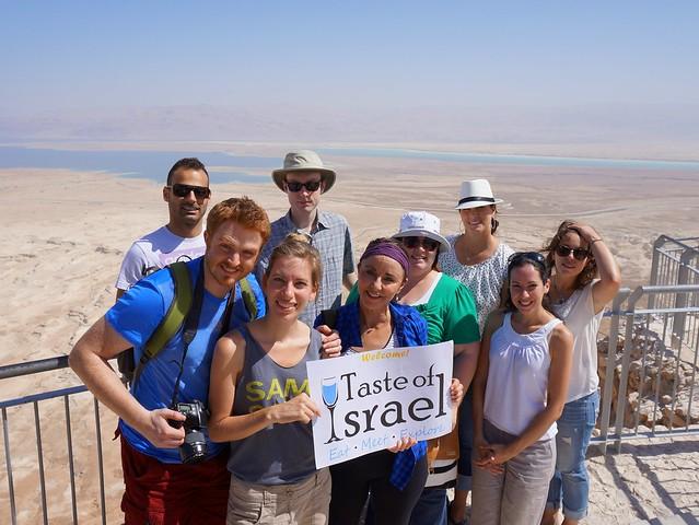 Taste of Israel team visiting Masada and the Dead Sea
