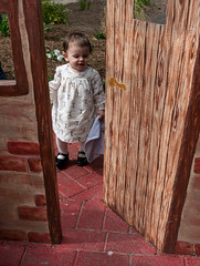 Natalian through the little pig's door