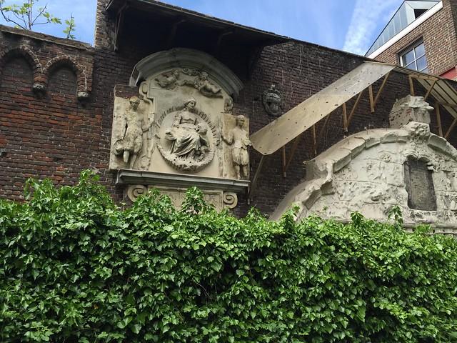 Detalle de la abadía de San Bavón (Flandes, Bélgica)