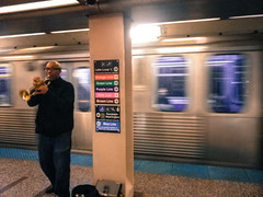Subway performer