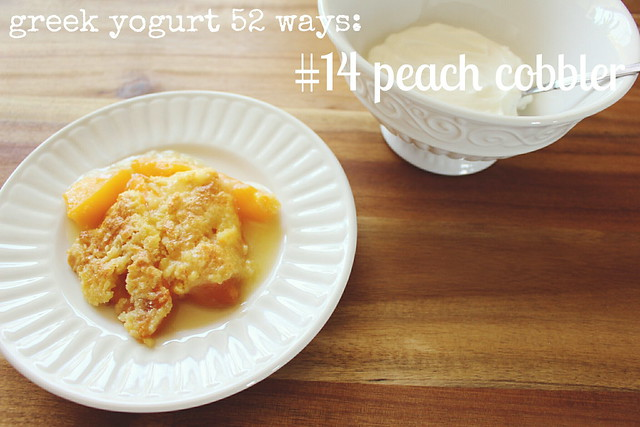 greek yogurt 52 ways: no. 14 peach cobbler